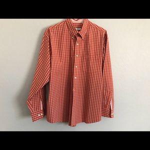 Orange dress shirt by Izod XL